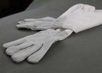 White Glove Leather Hands Grey