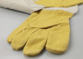 Gloves Yellow Hands Detail